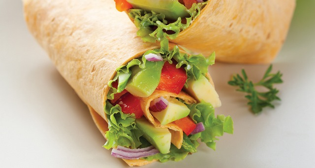 avo-and-chicken-wrap